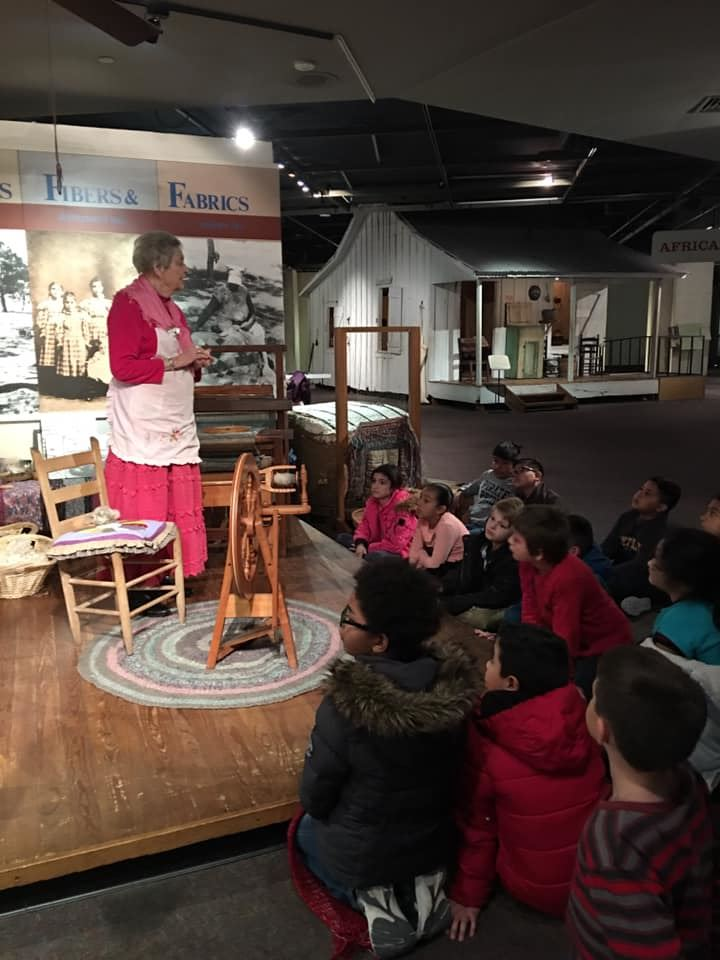 4th grade students learning about early Texas culture.