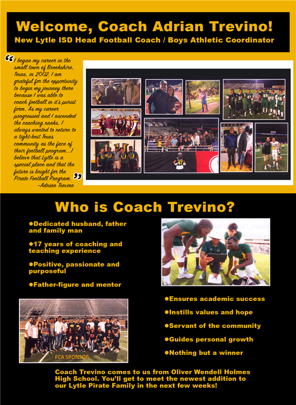 Flyer with Coach Trevino's Highlights