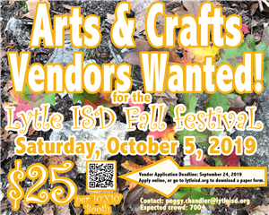 Flyer for Fall Festival - Vendors Wanted
