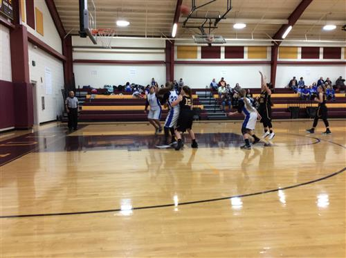 7th grade girls at Cotulla basketball tournament.
