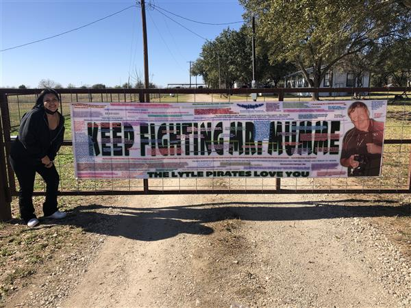 Messages Banner: Keep Fighting Mr. Mumme!