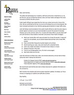 Image of Coronavirus Update Letter from Superintendent Michelle Carroll Smith
