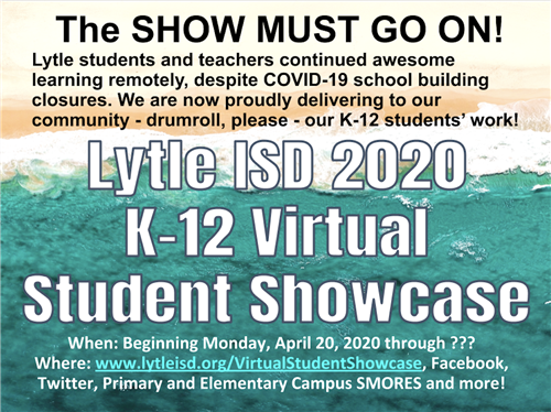 Lytle 2020 Virtual Student Showcase flyer