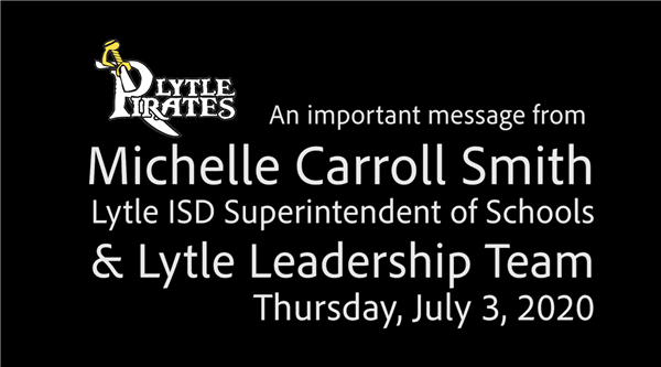 Superintendent and Leadership Zoom Video with Back-to-School Plans 7-2-2020