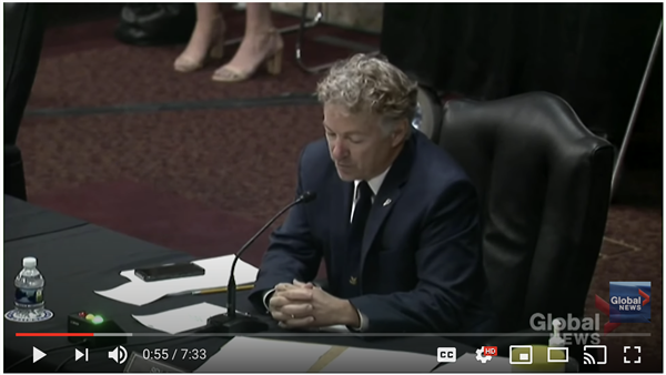 Senator Rand Paul Video Challenges Dr. Fauci's Back to School COVID-19 Stance