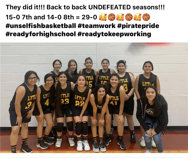 Undefeated 8th Grade Girls Basketball Team