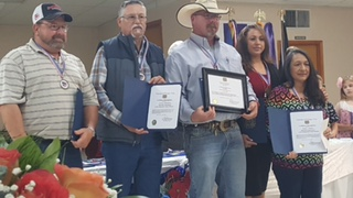 Operations department recognition by the Lytle VFW.