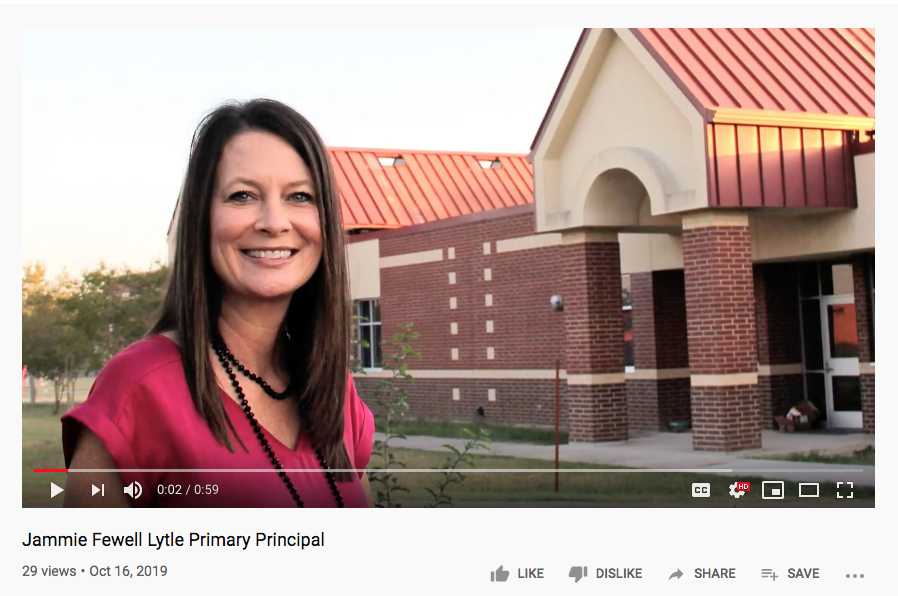 Jammie Fewell, Principal of Lytle Primary School