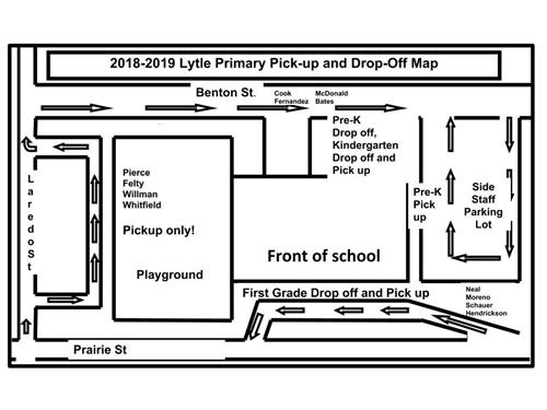 Primary Pick up/Drop off Map
