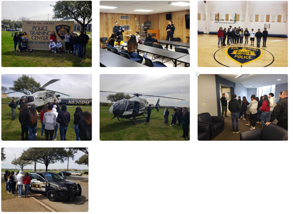 8th Grade Career Tour - SAPD Training Academy 3/28/19