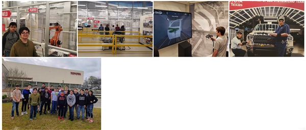 8th Grade Career Tour - Toyota Manufacturing Plant 3-8-2019
